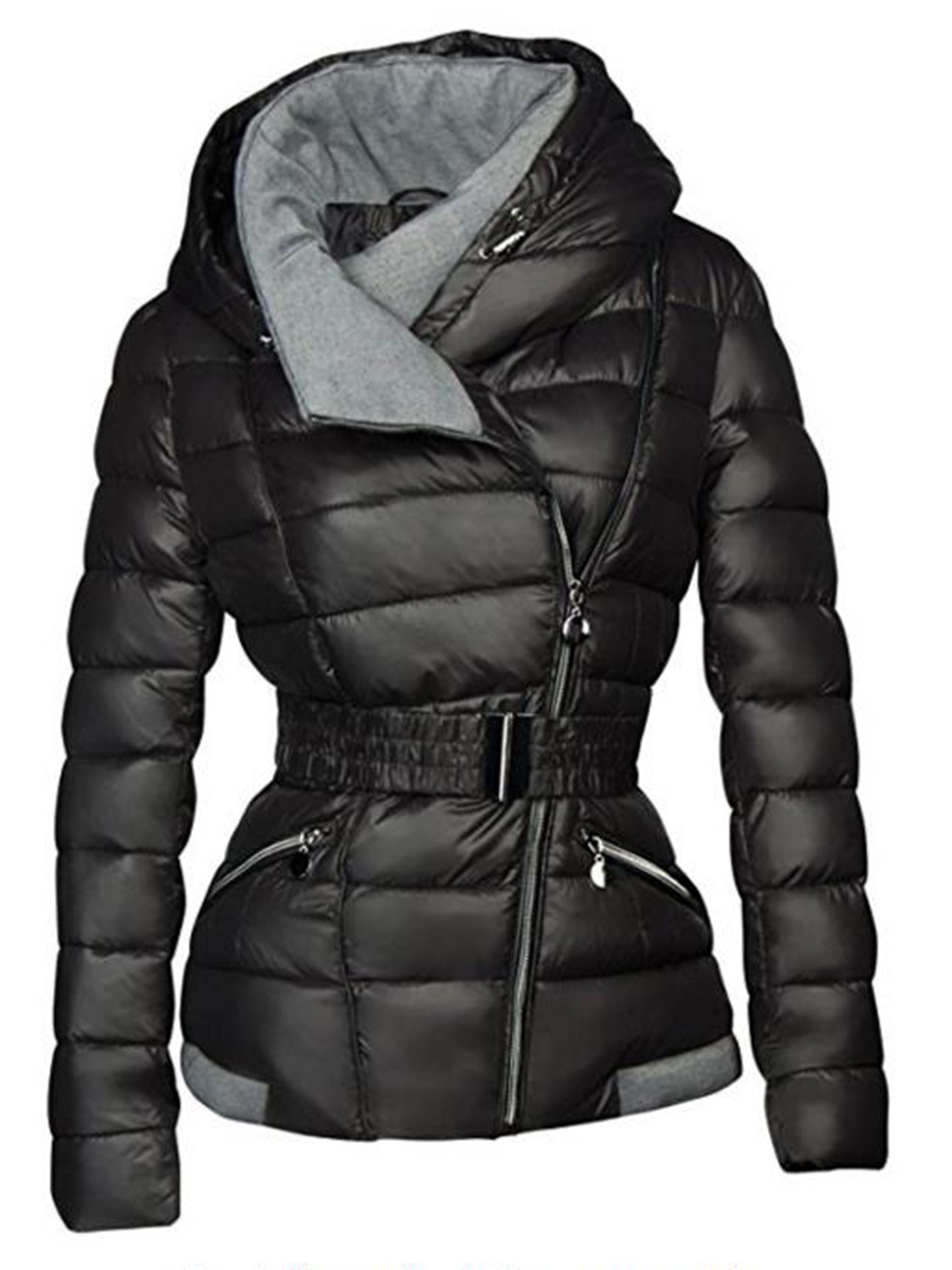Winter Jacket Faux-Fur Parkas Outwear Female Thickening Black Womens Cotton