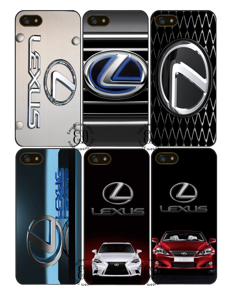 low priced a886a 162fc Luxury lexus logo cover case for iphone X XR XS Max 4s 5 5s SE 6 6s 7 8  plus Samsung j7 s5 s6 s7 s8 s9 edge plus note 5 8 9