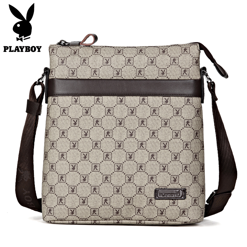 Playboy Male Handbag High Quality Business Men's Bag Messenger Bags Men Leather Crossbody Shoulder Bag Men Travel Bags high quality men canvas bag vintage designer men crossbody bags small travel messenger bag 2016 male multifunction business bag