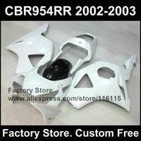 bodyworks for HONDA CBR900RR 2002 2003 fireblade CBR 954RR CBR900RR 02 03 white fairing kit
