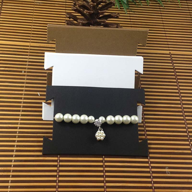 1Lot =100 Card +100 Opp Bag   Kraft/Black/White  Necklace Card Bracelet Card Hair Band Card Custom Logo Cost Extra MOQ : 1000PCS