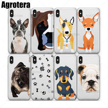 Agrotera Rottweiler Schnauzer St. Bernard Chó Con Westie Trong Suốt TPU Case cho iPhone 5 5S SE 6 6 S 7 8 Plus X XS XR Max(China)