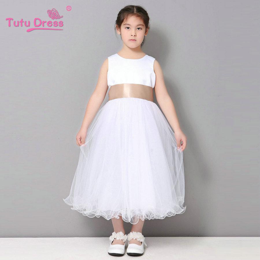 Flower Girl Dresses Wedding Easter Junior Bridesmaid White Curl ...