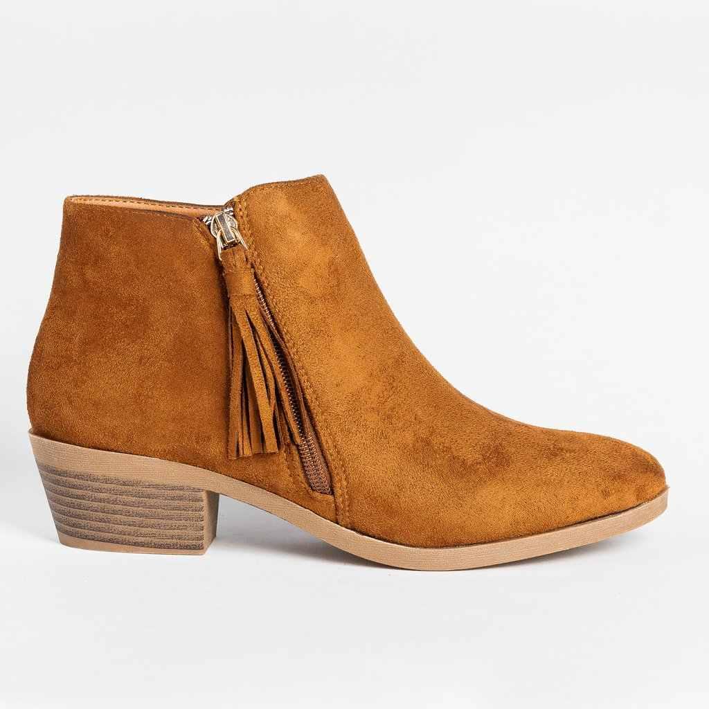 WENYUJH kadın sonbahar çizmeler yeni moda kadın botları fermuar yarım çizmeler kış süet lüks kadın ayakkabı Peep Toe