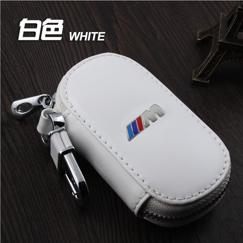 Genuine Leather Car Keychain Key Case Cover For BMW Series