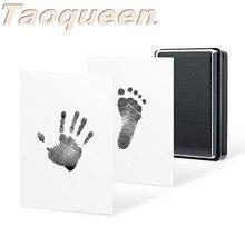 Taoqueen отпечаток руки ребенка и штемпельная подушка для отпечатка ноги нетоксичный безчернильный безопасный отпечаток сувенир ручной и отпечаток пальца
