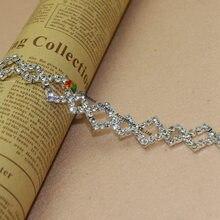 1yard 20mm Czech Rhinestone Trim Crystal Double Diamond Chain for DIY  browband Wedding dress Costume Furniture Jewelries 23ed5b4b30cc