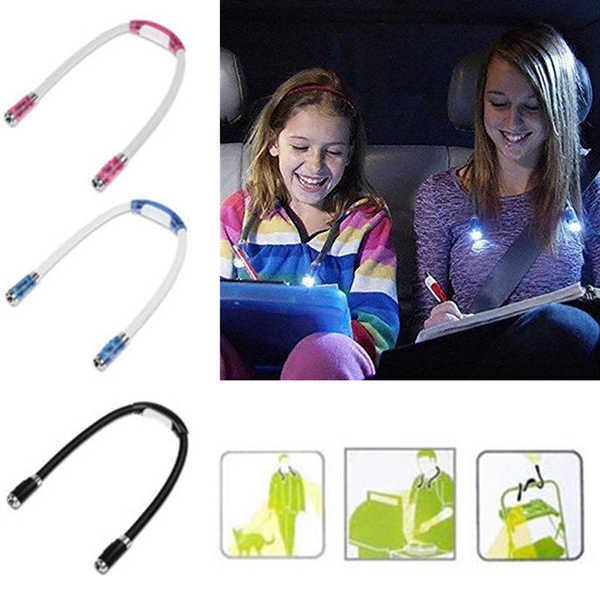 Гибкая Handsfree светодиодный свет шеи лампа для чтения книг ночной фонарь для кемпинга TN88