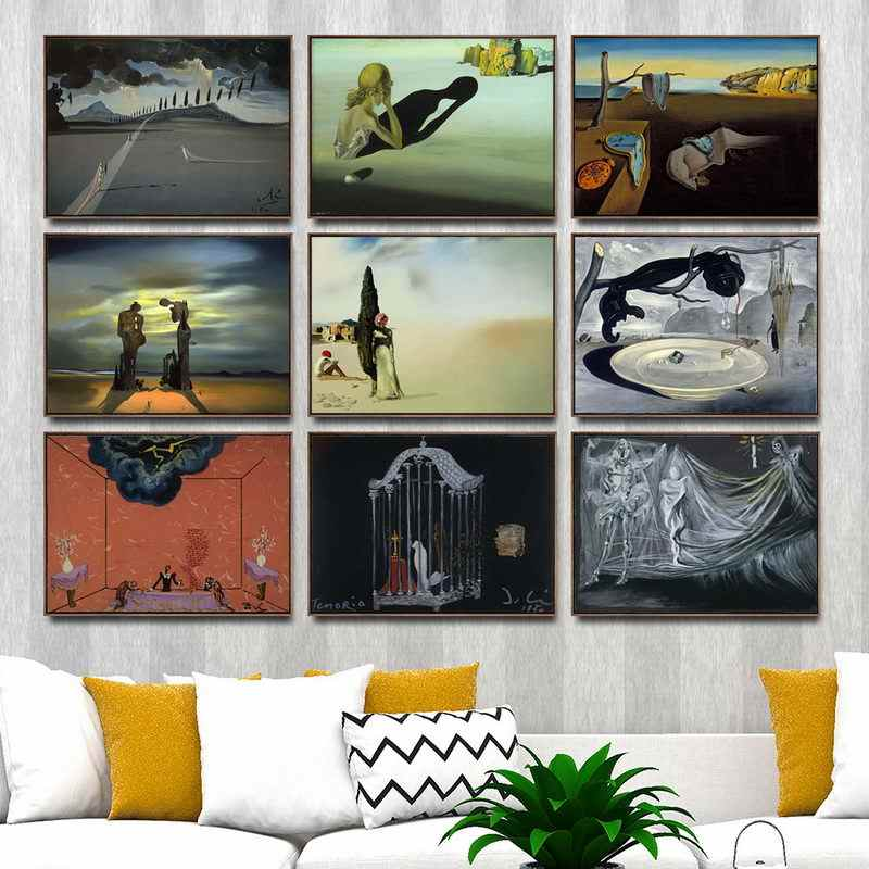 Home Decoration Art Wall Pictures Fro Living Room Poster Print Canvas Paintings Salvador Domingo Felipe Jacinto Dali i Domenech2