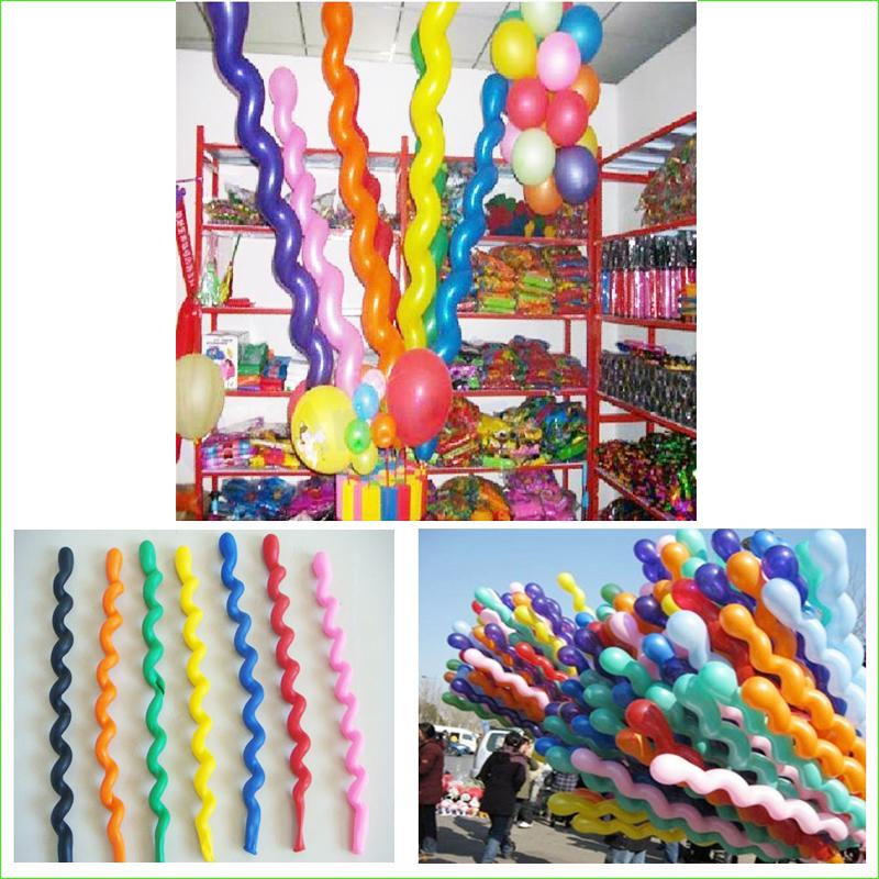 20Pcs/lot New Fashion Giant Rubber Helium Spiral Latex Balloons Wedding Birthday Party Decoration Ballons