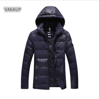 2018 Winter Jacket Men Mens Cotton Clothes Casual Pure Color Warm Bread Youth Winter Cold Cap And Cotton Padded Jacket