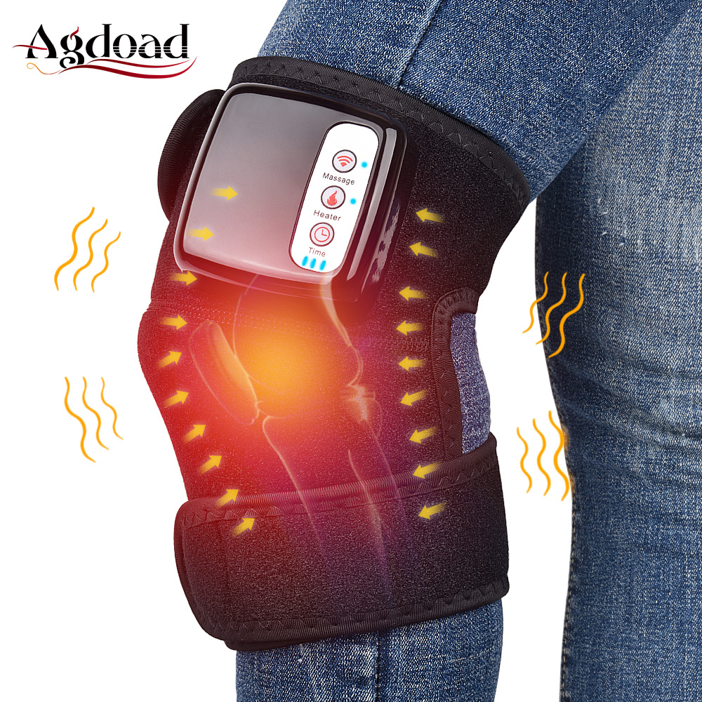Heat Therapy Knee Support Brace Wrap Heated Vibration Massage Knee Joint Pain Relief Arthritis Rheumatism Treatment Far Infrared