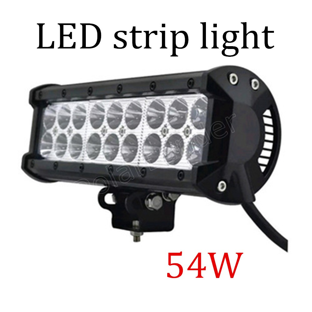 top sale 1X54W Car LED Work Light 12V 24V Spot Flood DRL ATV Truck Offroad Trailer strip Automobiles Driving Lamp