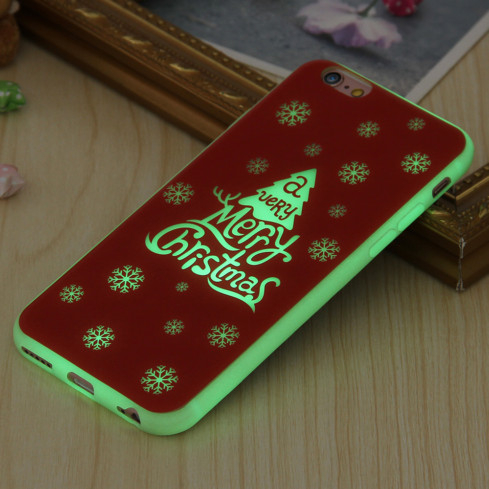 kisscase happy new year cases for iphone 6 6s case for iphone 6 plus 6splus cover merry christmas gift luminous soft silicon tpu in fitted cases from