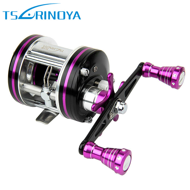 Tsurinoya Drum Wheel 6+1BB 5.3:1 Full Metal Fishing Reel for Long Casting Snakehead Carretilha De Pesca Esquerda Molinete Vissen rover drum saltwater fishing reel pesca 6 2 1 9 1bb baitcasting saltwater sea fishing reels bait casting surfcasting drum reel