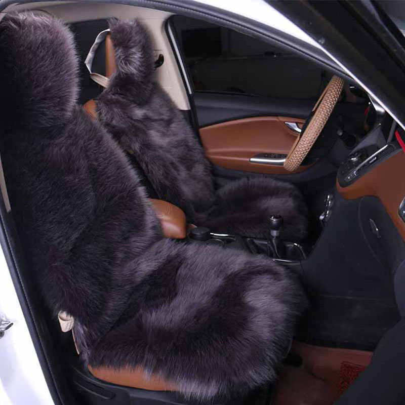 Luxo Auto De Pelúcia Almofada Do Assento de Carro Almofada Do Assento de Inverno Quente da Pele Do Falso Tamanho Frente Auto Assento Tampas de Assento Do Carro Universal almofada 1 pcs