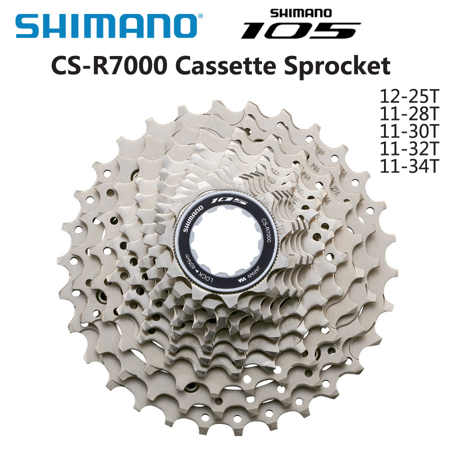 Shimano 105 CS 5800 R7000 Freewheel Cassette 11 Speed Road Bike 11 28T 11 32T 11 34T Cassette Sprocket Bicycle Parts-in Bicycle Freewheel from Sports & Entertainment