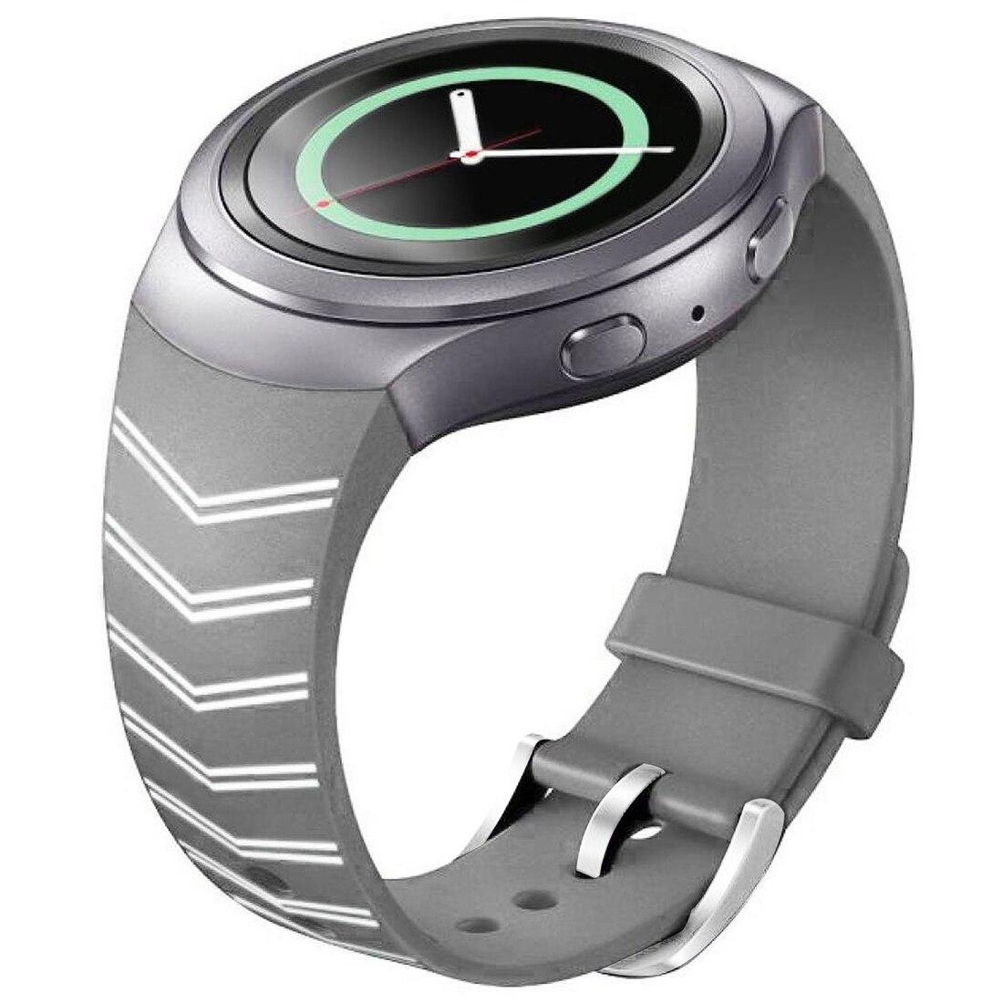 Luxury Silicone Watch Band Strap for Samsung Galaxy S2 Gear SM-R720