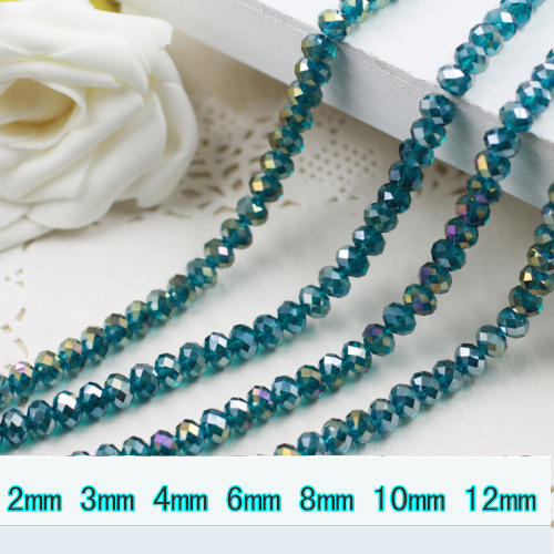 5040 AAA Top Quality Blue Zircon AB Color Loose Crystal <font><b>Glass</b></font> Rondelle <font><b>beads</b></font>.2mm 3mm <font><b>4mm</b></font>,6mm,8mm 10mm,12mm Free Shipping! image