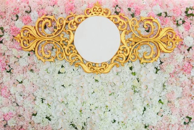 Huayi Dapat Disesuaikan Undangan Pernikahan Foto Backdground Vinil
