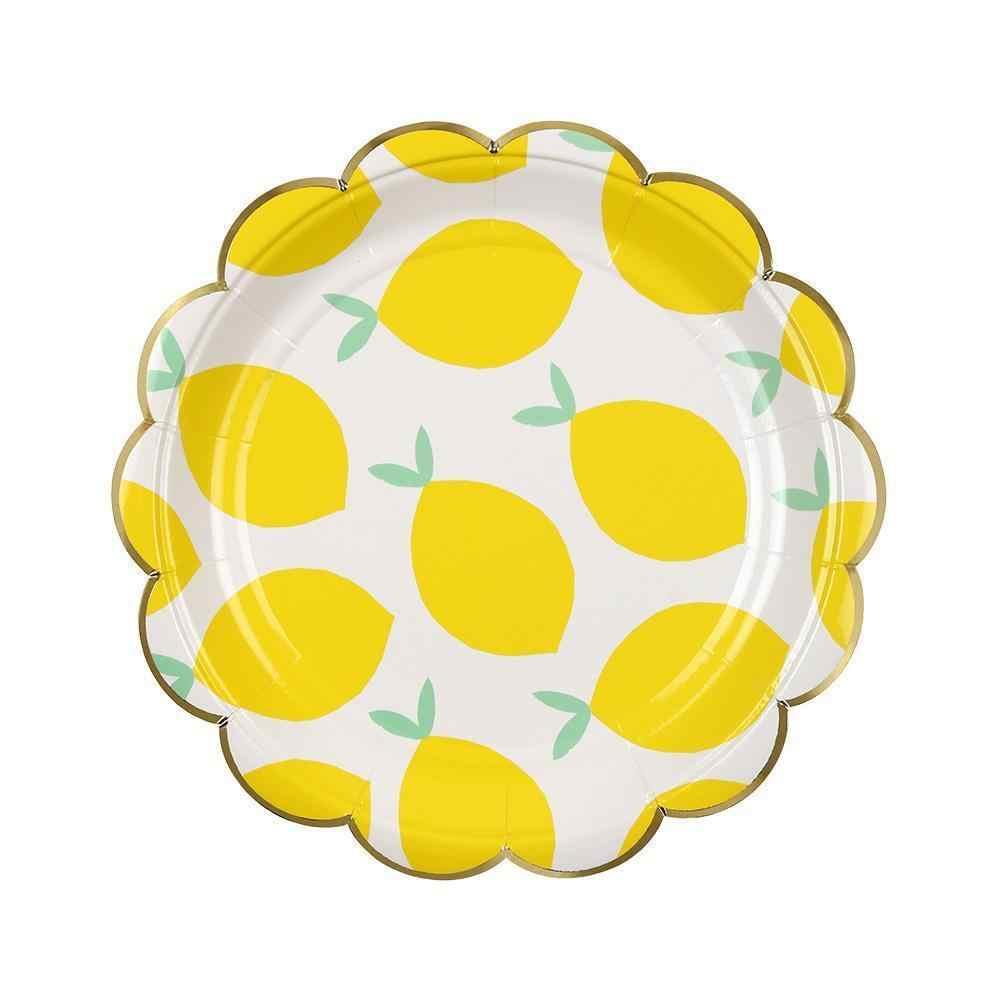 Лидер продаж! Золотые полосы набор посуды из Салфетка под тарелку кружку лимонно-желтый набор посуды для свадьбы День рождения, детский душ Детские вечерние Декор