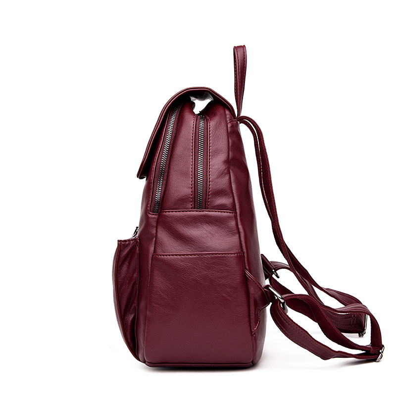 497c6f4a2ce3 Aliexpress.com   Buy Women Backpack Top Sale PU Leather Mochila Escolar  School Bags For Teenager Girl Top Handle Backpacks Best Quality Washed  Fabric from ...