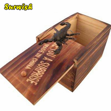 Surwish Creative April Fool's Day Prank Trick Toy Funny Wooden Box Jump Fake Insect – Random Delivery