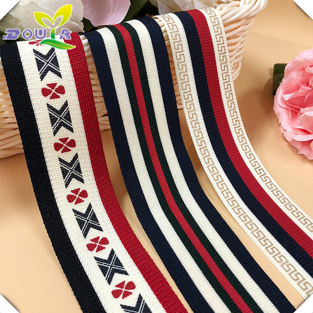 Manufacturers Wholesale Striped Knit Belt New Color Polyester Nylon