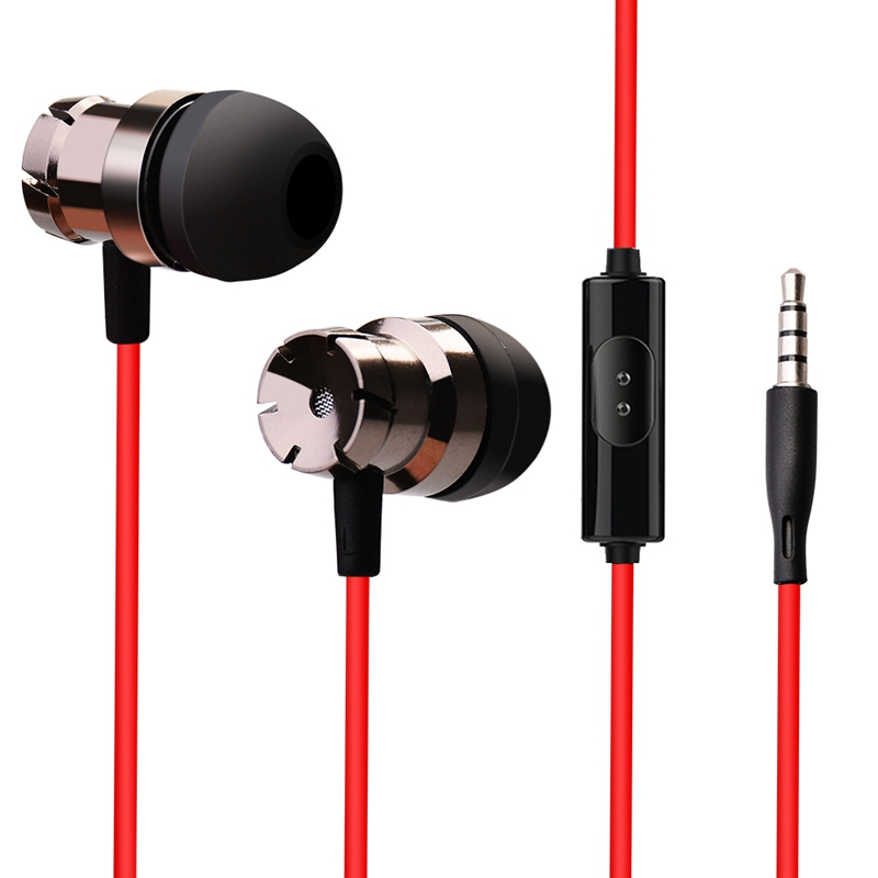 3.5mm Turbo Earphones Metal Earbuds Stereo Earphones With Microphone Wired Control Sport Headsets For Phones Fone De Ouvido