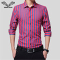 Striped Men Shirt Fashion Long Sleeve 2017 Winter New Arrival Youth Casual Male Brand Clothing Chemise Homme Plus Size 5XL N1180