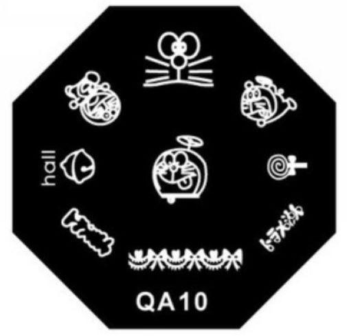 Nail Stamp Stamping Image Plates DIY tip nails Nail Art Templates Manicure Styling Tools Happy Doraemon QA10