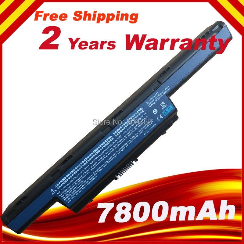 7800mAh Laptop Battery For Acer Aspire V3 V3-471G V3-551G V3-571G E1-471 E1-531 E1-571 V3-771G E1 E1-421 E1-431 Series 6600mah laptop battery for acer aspire e1 e1 531g e1 571g v3 v3 471g v3 551g v3 571g v3 731 v3 771 v3 771g