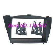 Бесплатная доставка новый 2Din Car Audio Установка Рамка для Hyundai Tucson IX35 Авто Отделка Комплект Фасции Переходная DVD Панели Плиты крышка