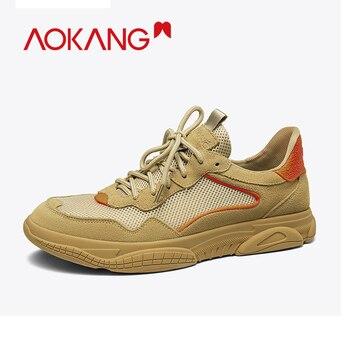 AOKANG 2019 Autumn Casual Shoes Men Comfortable Breathable Men Walking Shoes High Quality Sport Shoes Men Lace Up Shoes