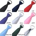 Frete grátis 8 cm magro Formal Zipper gravata para os homens De Casamento festa negócios gravatas Strie Conveniente Masculino Gravata azul preto vermelho