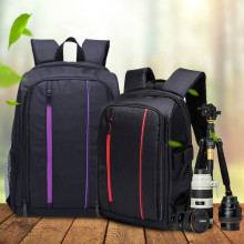 New Multi-functional Camera Backpack Video Digital DSLR Bag Waterproof Outdoor Camera Photo Bag Case for Nikon/ for Canon/DSLR micnova mq msp07 carrier iii multi camera carrier photographer vest with triple side holster strap for canon nikon dslr camera