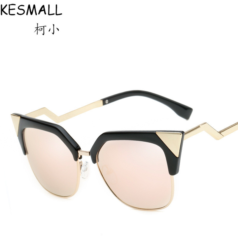 2018 Oculos De Sol Feminino Cat Eye Sunglasses Women Vintage Sunglass Female Fashion Googles Ladies Mirror Sun Glasses YJ874