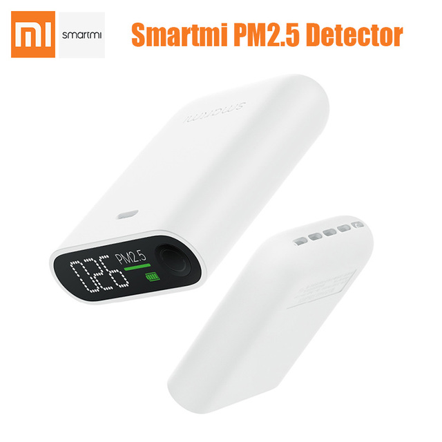 Xiaomi Smartmi PM2.5 Air Detector portable mini sensitive Air quality monitor for home office mi LED screen zhimi PM 2.5 sensor