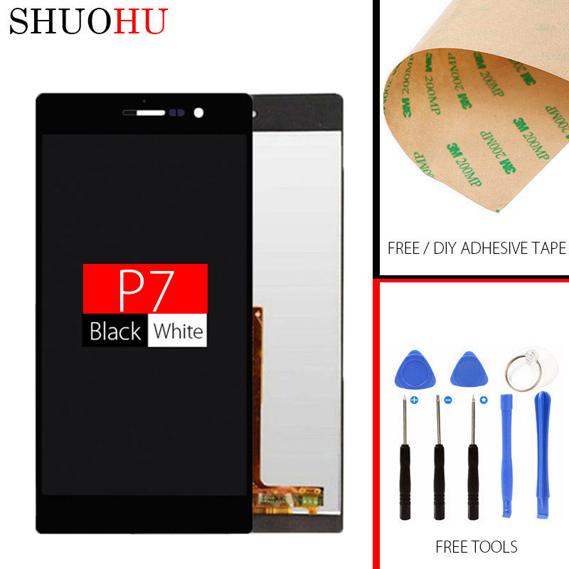 Tested LCD Screen 5.0 inch TFT(IPS) For HUAWEI P7 LCD Ascend P7 LCD Display Touch Digitizer Screen Assembly Free Shipping original lcd for huawei p7 ascend lcd display touch screen assembly 5 inch lcd replacement without frame free tools