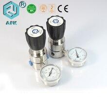 Régulateur de pression CO2 Argon, simple étage, R11 en acier inoxydable avec un manomètre de sortie
