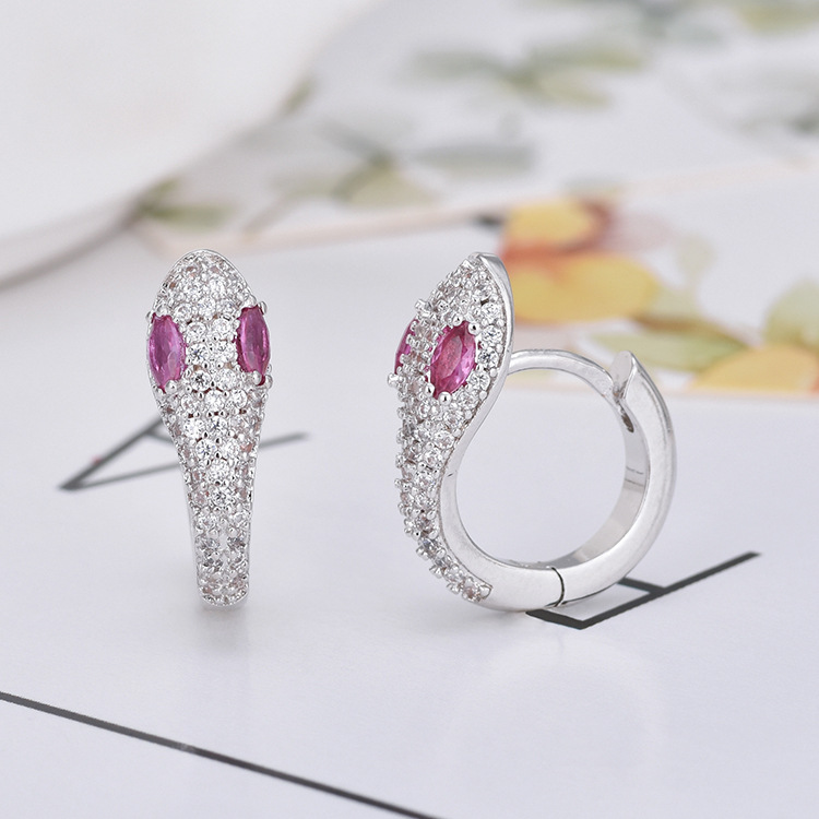 2019 Fashion Snake-shaped Shiny AAA Zircon Earrings High Quality Unique Earring Jewelry For Women Girl Gift