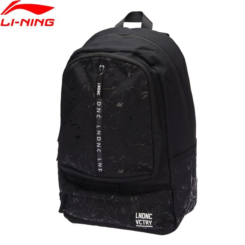 Li-Ning Bags Unisex Sports Life Backpack Leisure Polyester LiNing Men & Women Sport Computer Bags ABSM316 original li ning men professional basketball shoes