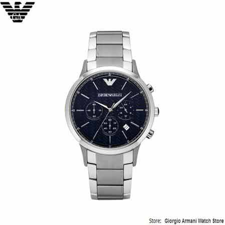 Original Giorgio Armani Mænds Quartz Watch, Casual Herretøj - Mænds ure