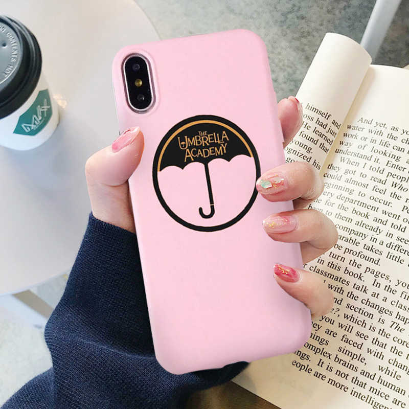 GYKZ Funny The Umbrella Academy Logo Phone Case For iPhone X XR XS Max 6 6s  7 8 plus Soft Silicone Matte Back Cover For iPhone 7