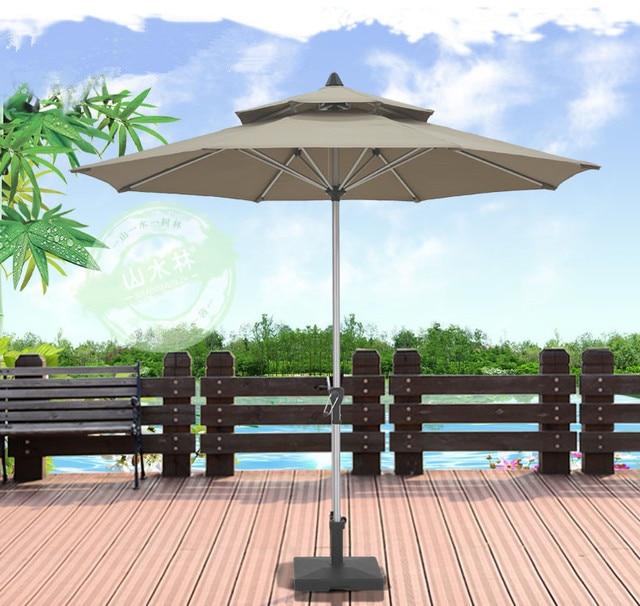 Outdoor Folding Sun Umbrella, Beach Umbrella, Ultraviolet Protection Column Patio  Garden