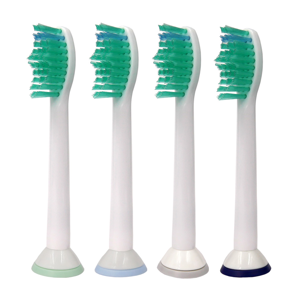 4pcs Sonic Electric Toothbrush Heads Replacement nozzles For Philips Sonicare Diamond Clean FlexCare ProResults HX6014 HX6930 image
