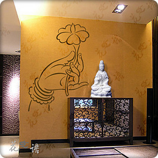 Buy personalized customize buddha vinyl for Buddha wall mural