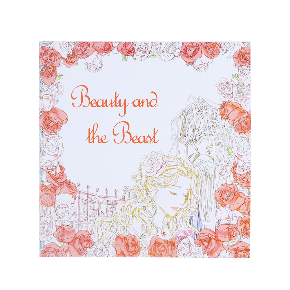25*25cm 24 Pages Beauty And The Beast Stress Relief Coloring Book Relieve Stress For Kids Adult Kill Time Coloring Book