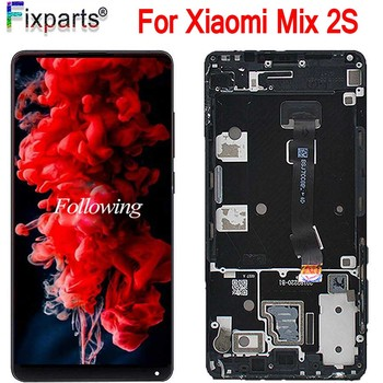 100% New For Xiaomi Mix 2S Mix2S LCD Display Touch Screen Digitizer Assembly Glass Panel With Frame For Xiaomi Mi Mix 2S +Tools