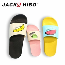 JACKSHIBO Fashion Women Slippers Summer lovely Ladies Slides Casual Slip on Beach slippers Fruit jelly Womn Flip Flops Shoes